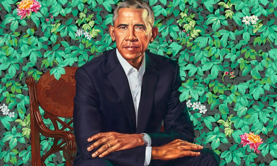 Presidential Portrait of Barack Obama, Kehinde Wiley, Oil on Canvas, 2018