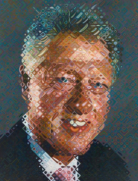 William Jefferson Clinton, Presidential Portrait by Chuck Close, Smithsonian National Portrait Gallery