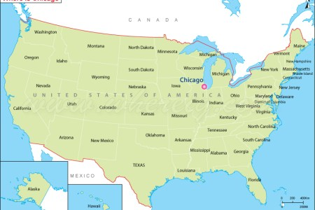 chicago map of usa