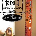 How To Make a Family Growth Chart Ruler w/ Yearly Photos