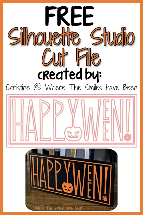 Upcycled Happy Halloween Sign Free Cut File