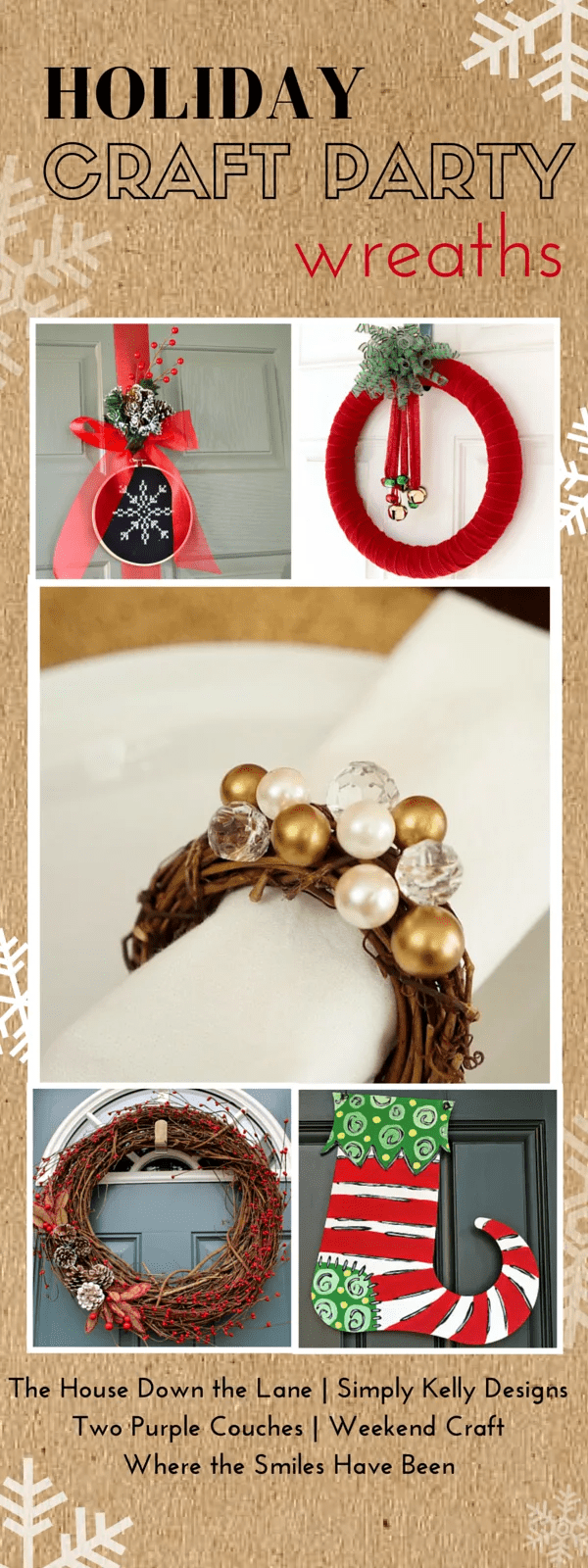 Holiday Craft Party! Day 4: Wreaths, plus an AMAZING Giveaway! | Where The Smiles Have Been