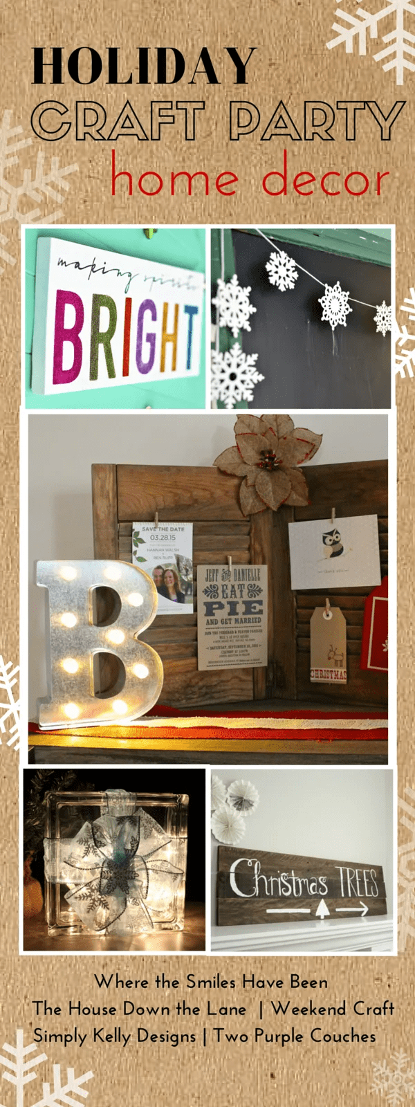 Holiday Craft Party! Day 5: Home Decor, plus an AMAZING Giveaway! | Where The Smiles Have Been