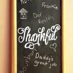 DIY Thankful Chalkboard & Easy Chalk Hand Lettering Cheat!