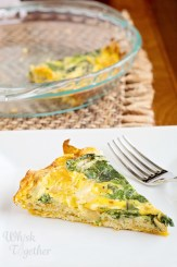 Sweet Potato Crust Quiche on Whisk Together