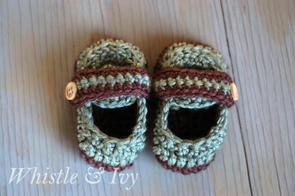 Free Crochet Pattern T Strap Booties : crochet Archives - Page 4 of 5 - Whistle and Ivy
