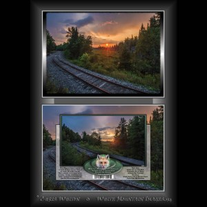 #2052 Sunset on the Tracks Notecard
