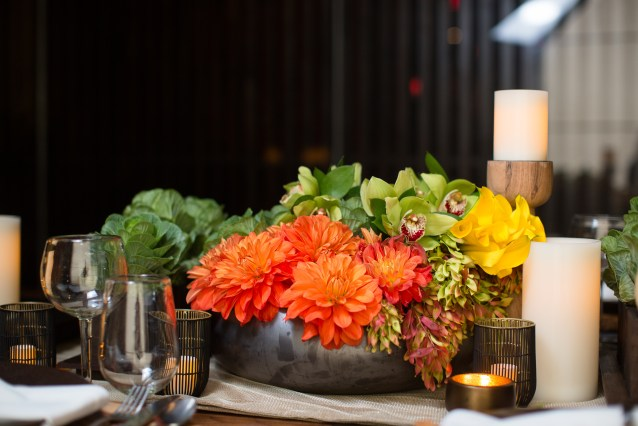 table, centerpiece, flowers, florist, orange county