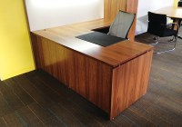 02- Congress - Desk & Return - with Stud - Walnut desk