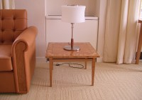 05- Occasional Table - Low Coffee Table - Tapered Leg Frame