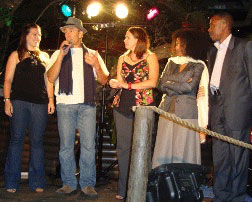 Nominees accepting awards at the 2008 Educating Africa Teach a Man to Fish Award