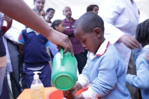 "Robel Adamu  A grade one student, reflects on the attending Tsehai Loves Learning- Healthy Whiz Kids children festival ""Tsehai Loves Learning- Healthy Whiz Kids festival thought me the importance of soap while washing my hand."""