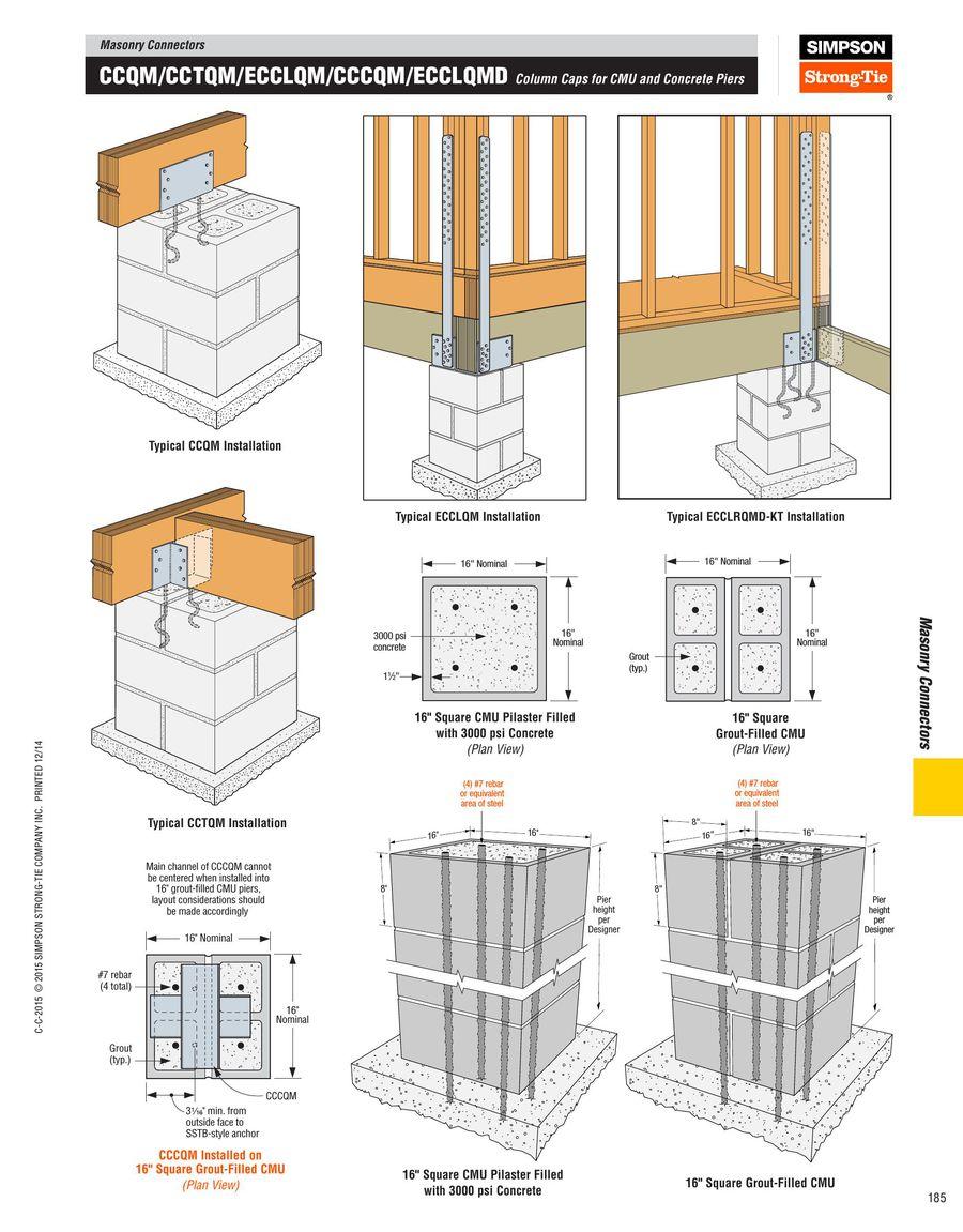 Charmful Column Caps Cmu Concrete Piers 2015 By Simpson Simpson Strong Wall Details Simpson Strong Wall Sswab houzz-03 Simpson Strong Wall