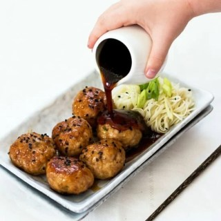 Honey Ginger and Garlic Pork Meatballs