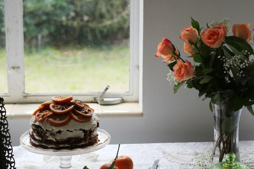 Rustic Vanilla Candied Orange Cake