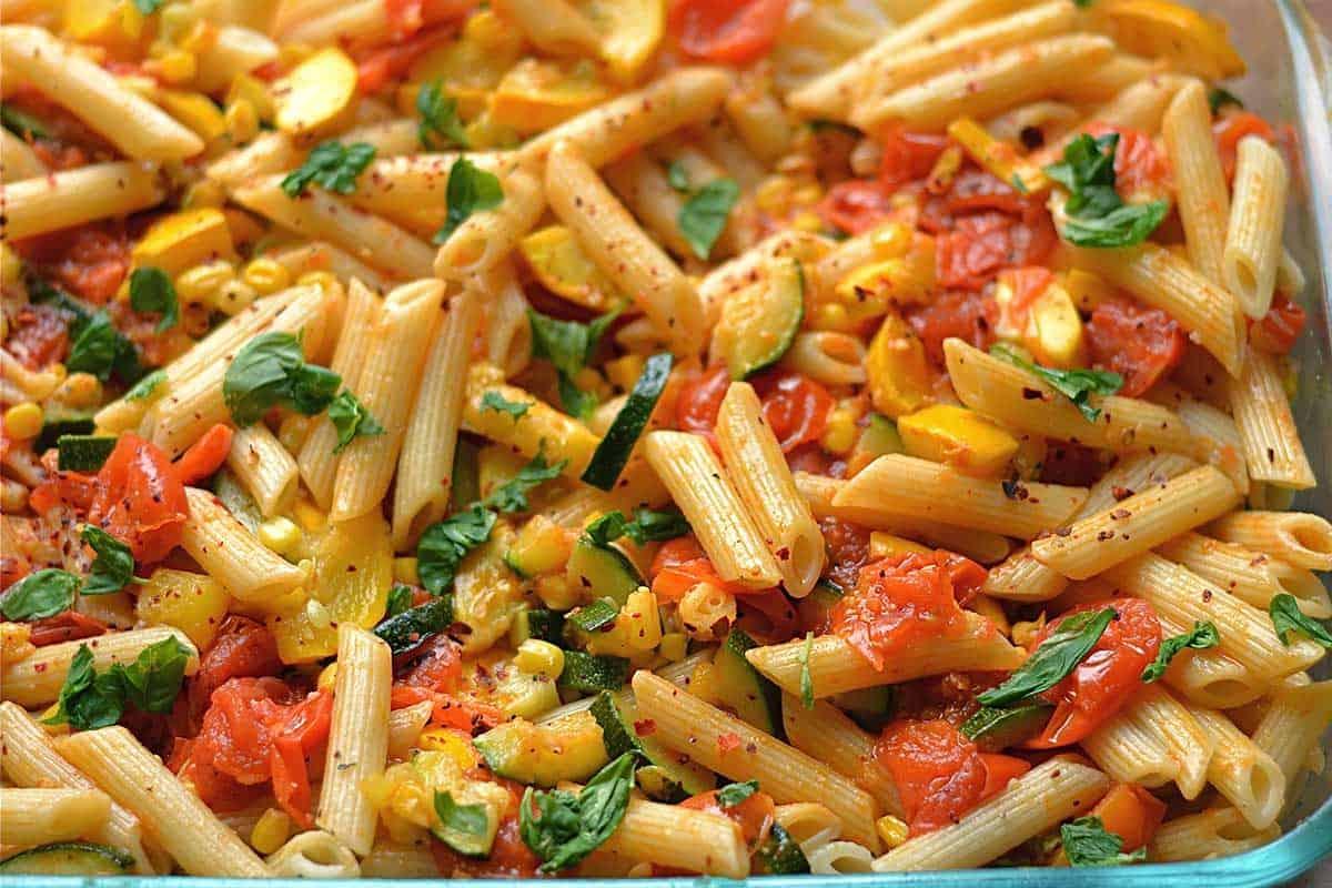 Vegetable Garden Pasta - Wholesomelicious