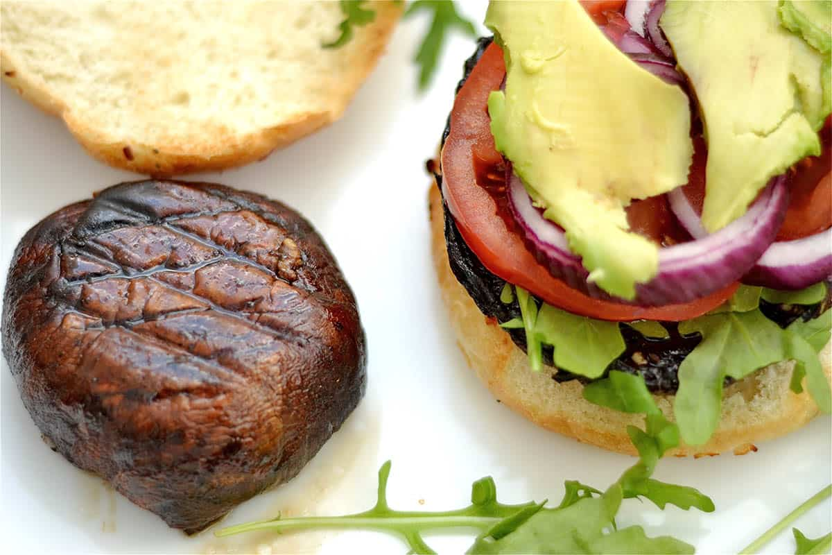 Grilled Portobello Mushroom Burgers - Wholesomelicious