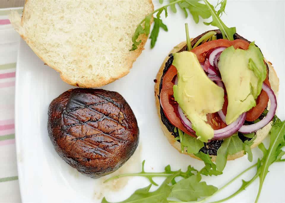 Grilled Portobello Mushroom Burgers - Wholesomelicious