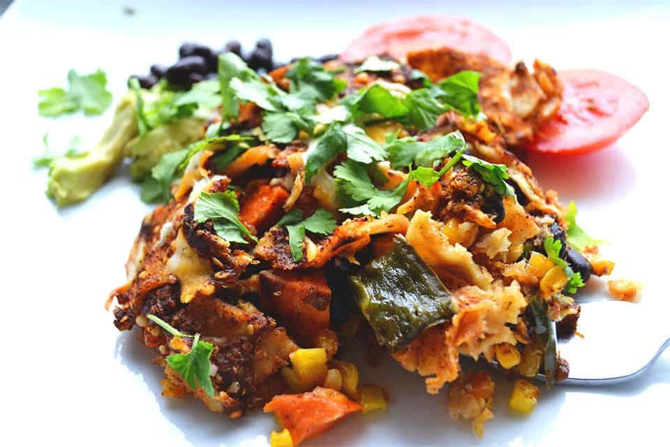 Roasted Vegetable Enchiladas - Wholesomelicious