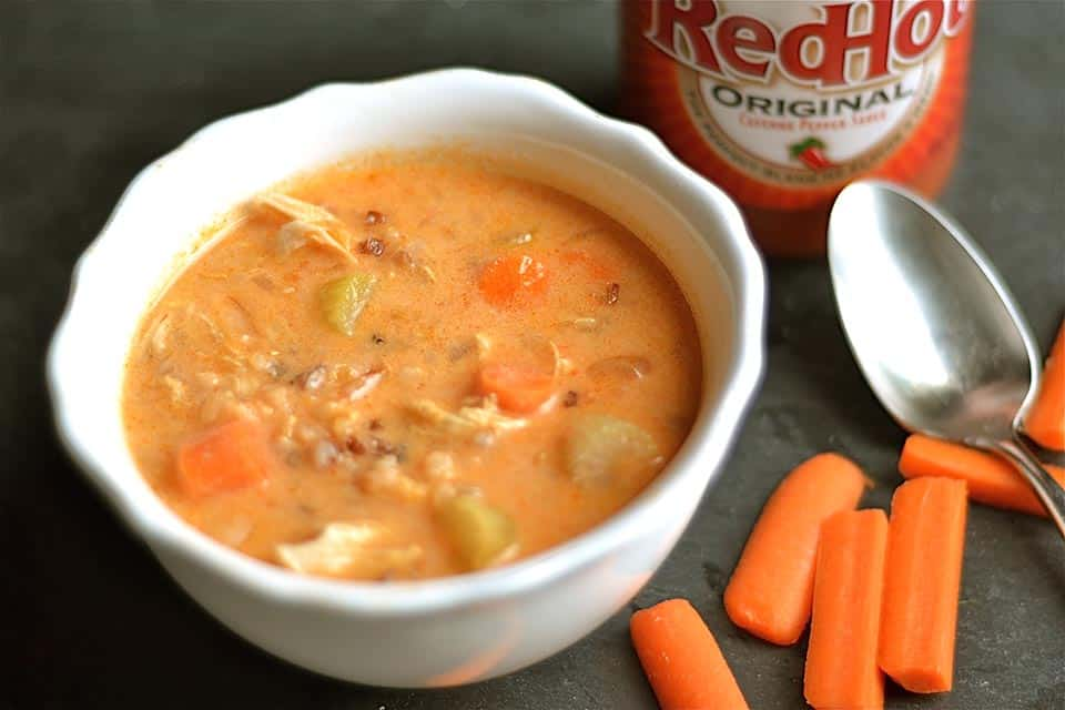 Slow Cooker Buffalo Chicken Chowder - Wholesomelicious