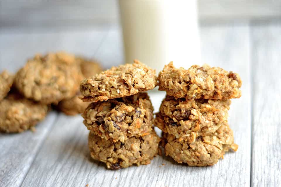 Carrot Cake Breakfast Cookies are refined sugar-free, gluten-free ...
