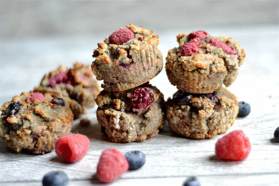 Grain-Free Berry Banana Muffins - Wholesomelicious
