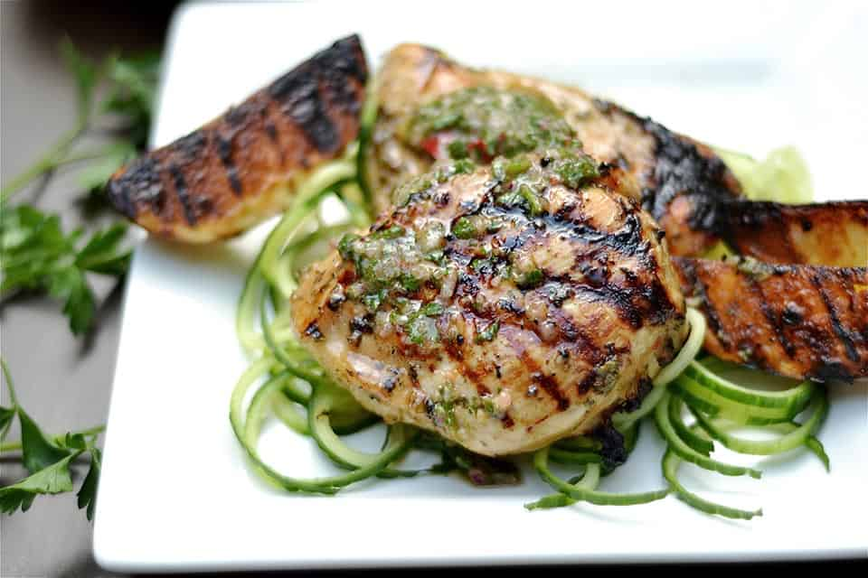Grilled Chimichurri Chicken and Potatoes