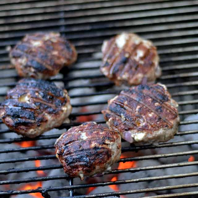 Grilled Turkey Burgers with Whipped Feta 2