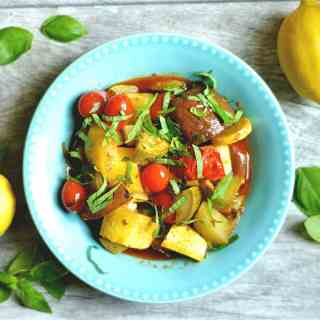 Slow Cooker Lemon Basil Ratatouille