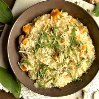 butternut-squash-and-mushroom-risotto-with-sage