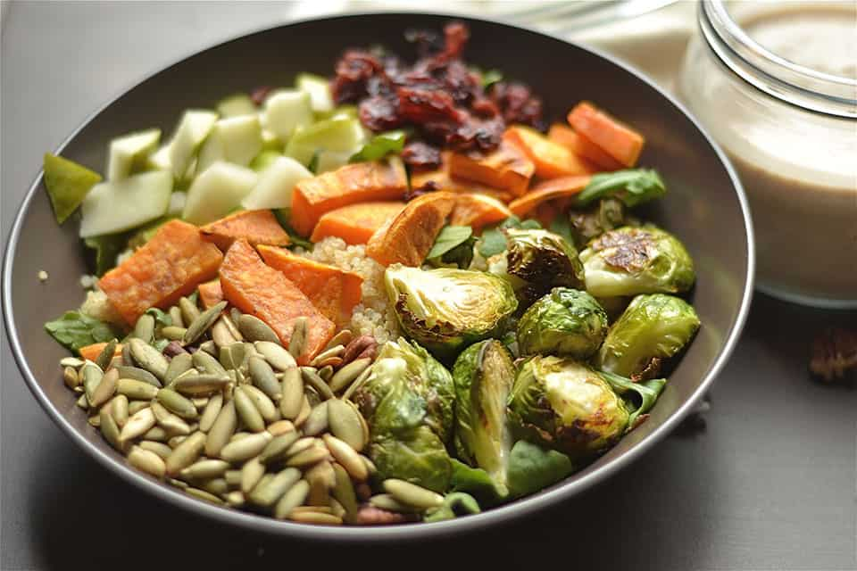 Fall Buddha Bowl with Quinoa and Toasted Pecan Dressing ...