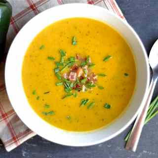 smoky-butternut-squash-soup-with-bacon