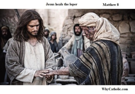 Jesus heals the leper