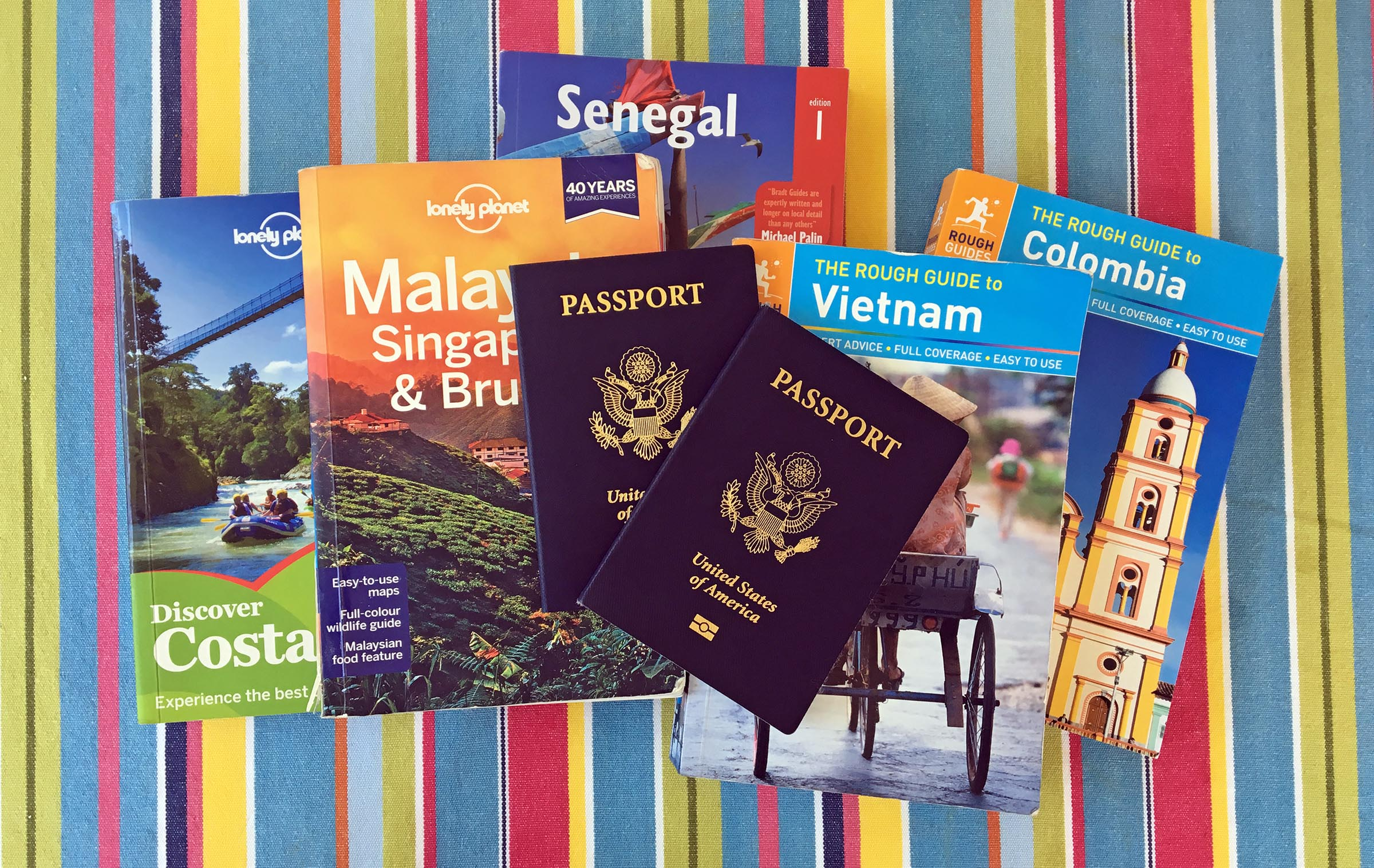 headline image with pictures of guidebooks