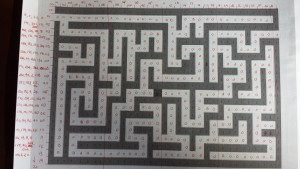 Hand coding the maze into eight-bit bytes