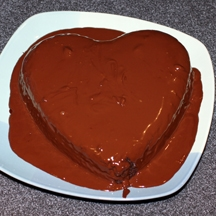 Scharffen Berger Chocolate Heart Cake