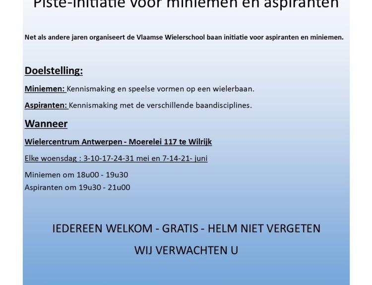 Opleiding Wielerschool Wilrijk