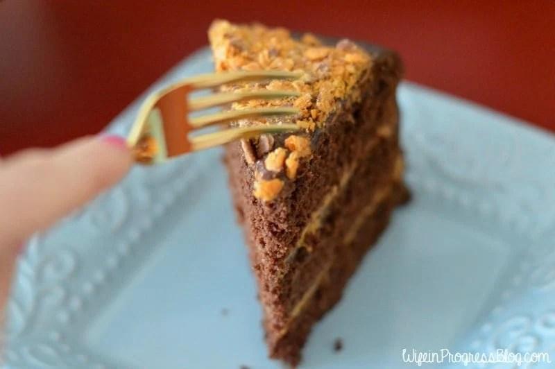 Chocolate Salted Caramel Crunch Cake