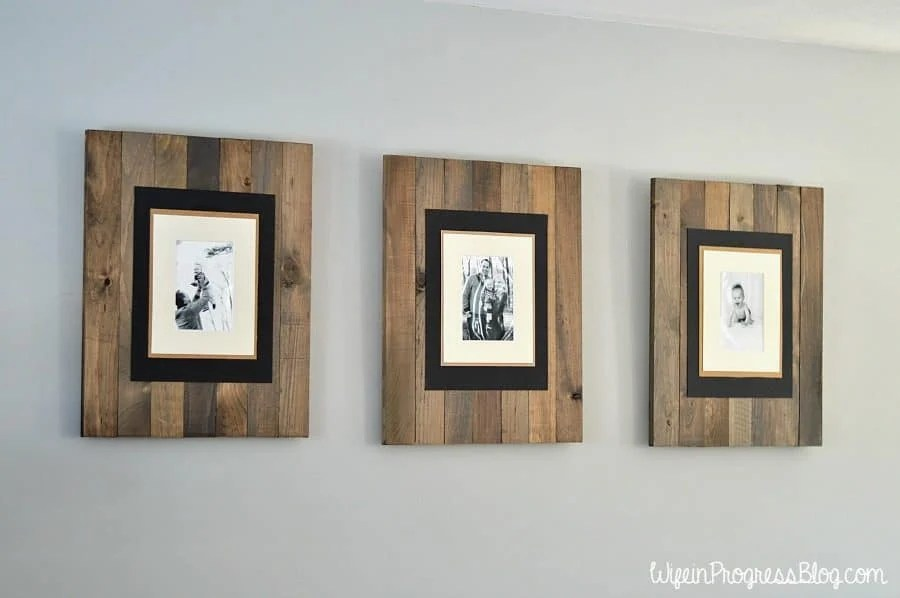 DIY Rustic Weathered Picture Frame