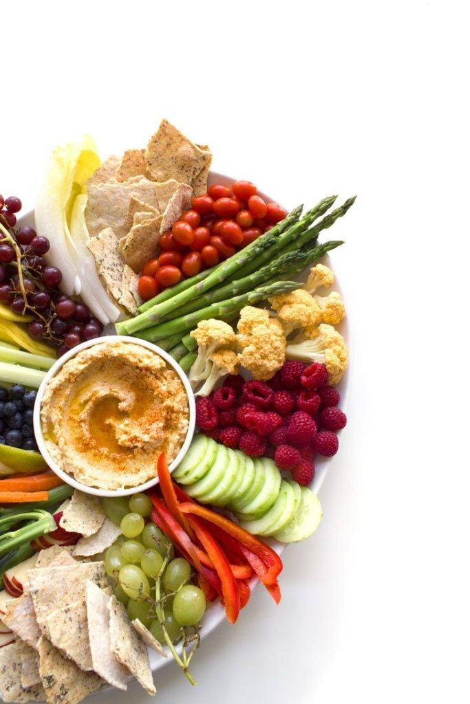 Simple Crudités Platter & Easy Hummus Dip | This fresh, seasonal ...