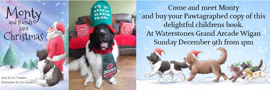 Monty Dogge Christmas book signing