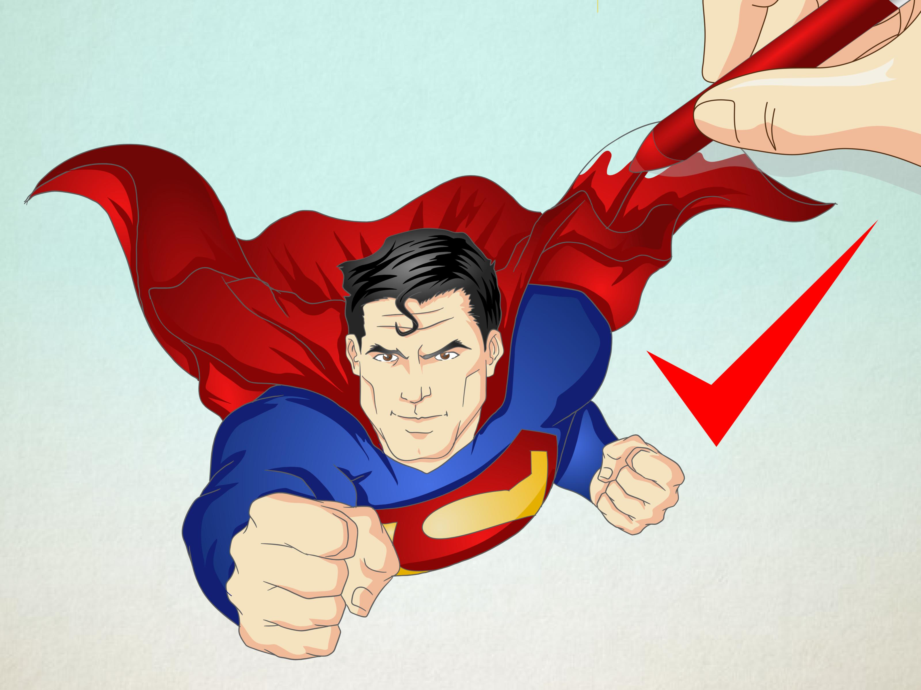 How to Draw Superman  13 Steps  with Pictures    wikiHow