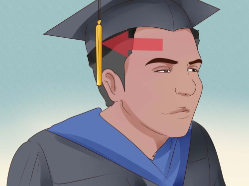 Medium Of Graduation Tassel Side