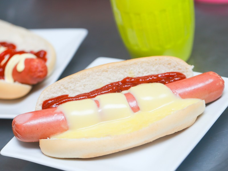 Large Of Hot Dog No Bun