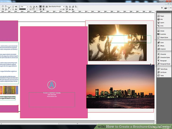 How to Create a Brochure Using InDesign  with Pictures    wikiHow Image titled Create a Brochure Using InDesign Step 14