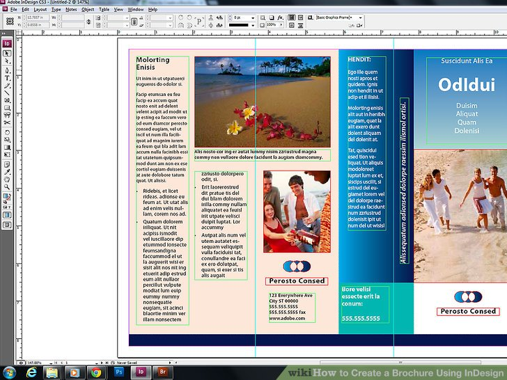 how to make a brochure on indesign   Kleo beachfix co how to make a brochure on indesign