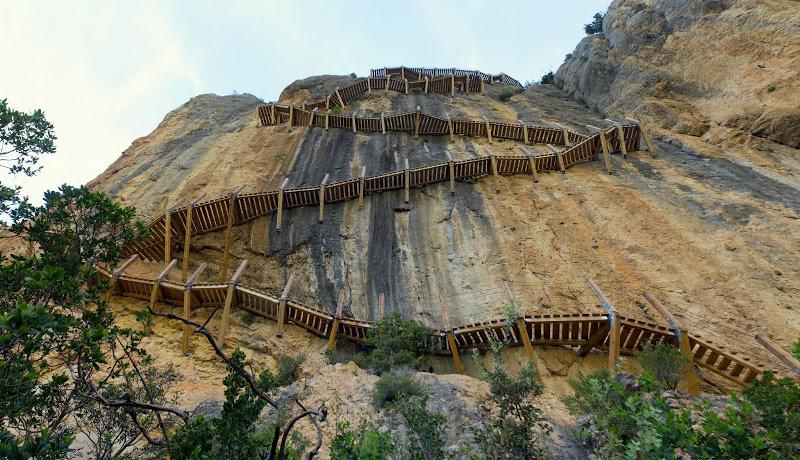 Een Van De Spectaculairste Wandelingen Van Spanje: Congosto De Mont-rebei In De Pyreneeën