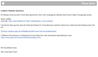Endes des Podcasts