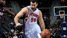 Josh Harrellson - photo by Allen Einstein | NBAE via Getty Images
