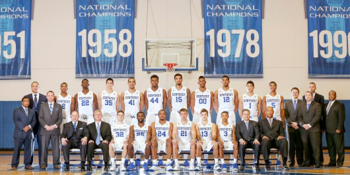 2014-2015 Kentucky Basketball Roster Photo